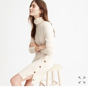 J crew cable turtleneck sweater dress